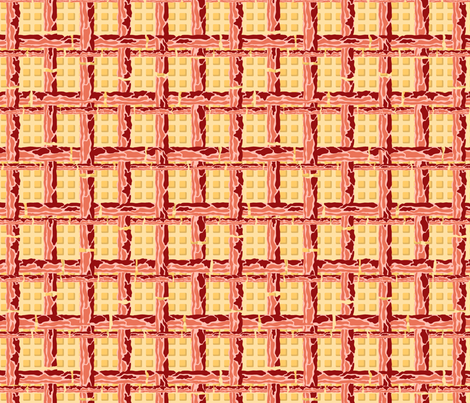 Breakfast Tartan fabric by leighr on Spoonflower - custom fabric
