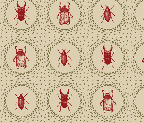 beetlesHollyTrill fabric by hollytrill on Spoonflower - custom fabric