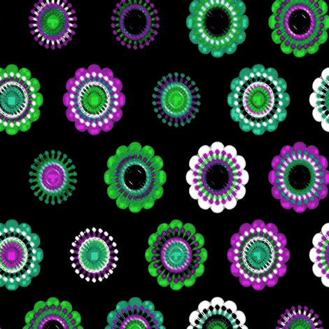 green purple flowers fabric by heikou on Spoonflower - custom fabric