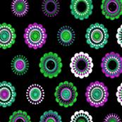 green purple flowers