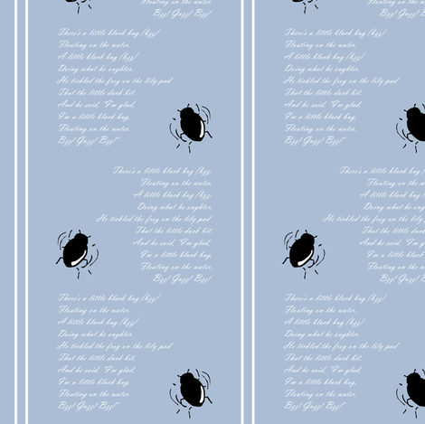 Little Black Bug fabric by pond_ripple on Spoonflower - custom fabric