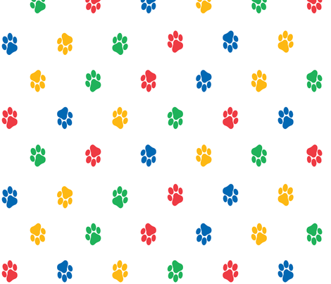 Paw Prints fabric by pininkie on Spoonflower - custom fabric
