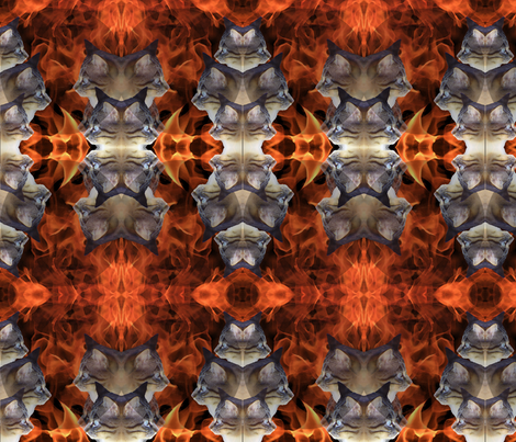 Flames and cats fabric by brekas on Spoonflower - custom fabric