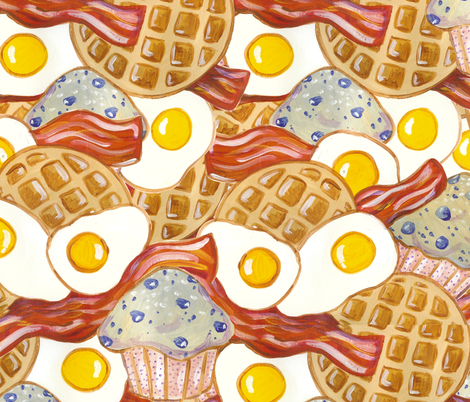 Breakfast Bonanza fabric by asilo on Spoonflower - custom fabric