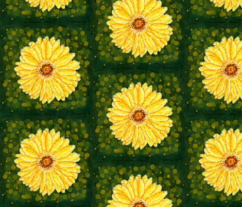 Daisy fabric by denisedian on Spoonflower - custom fabric