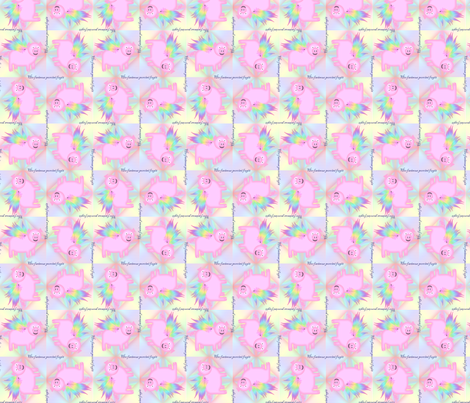 ©2011 Flying Piggies fabric by glimmericks on Spoonflower - custom fabric