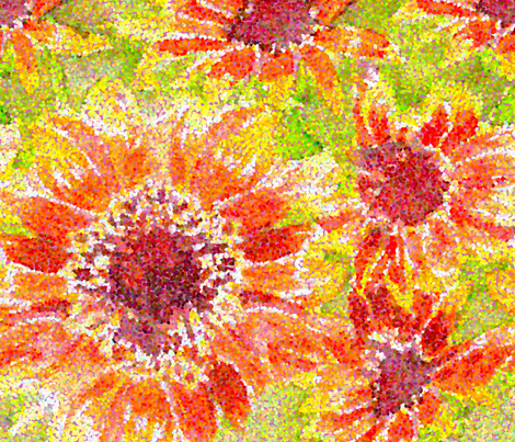 Sunflowers fabric by jennartdesigns on Spoonflower - custom fabric