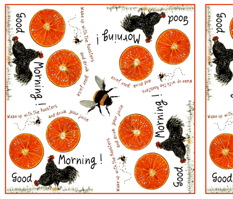 A Good Morning / rooster juice fabric by paragonstudios on Spoonflower - custom fabric