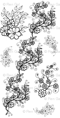 Delicate Vining Flowers