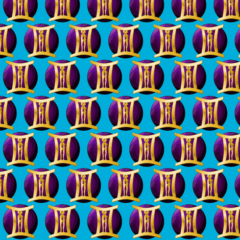 ©2011 gemini fabric by glimmericks on Spoonflower - custom fabric