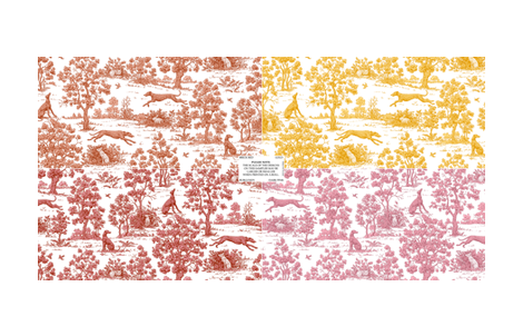Greyhound toile sampler #2--WALLPAPER SWATCH ONLY ©2011 by Jane Walker