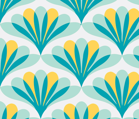 Peacock blue fabric by myracle on Spoonflower - custom fabric