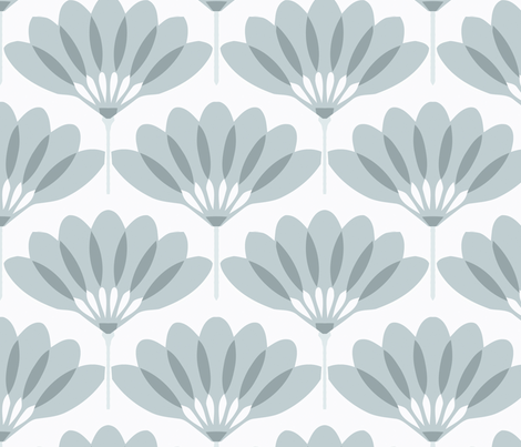 Fan blue fabric by myracle on Spoonflower - custom fabric