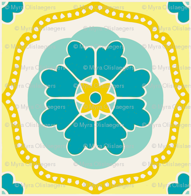 Flowertile blue