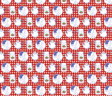 Breakfast! fabric by hushaby&quirks on Spoonflower - custom fabric