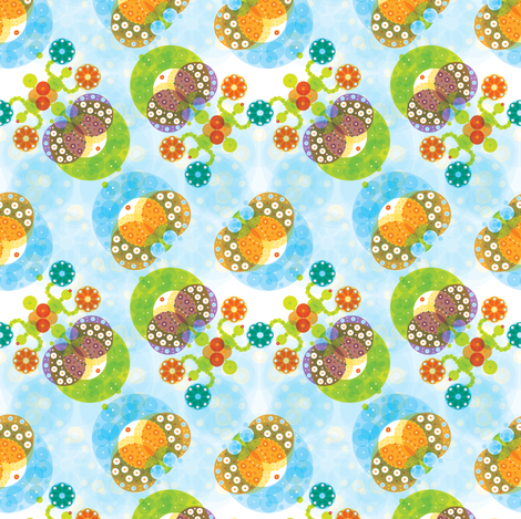 Ocean Garden & Sea Cucumbers - © Lucinda Wei fabric by lucindawei on Spoonflower - custom fabric