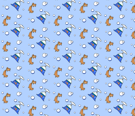Blinking Outside The Bag II fabric by kiniart on Spoonflower - custom fabric
