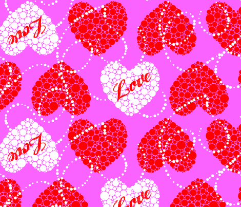 PointillismContest_LovePrint fabric by rora1313 on Spoonflower - custom fabric