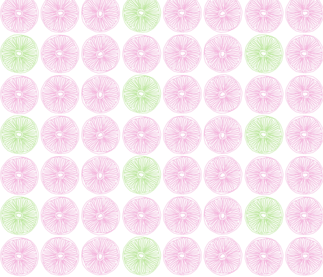 "SLICE in ""PETAL & PEA"" fabric by trcreative on Spoonflower - custom fabric"