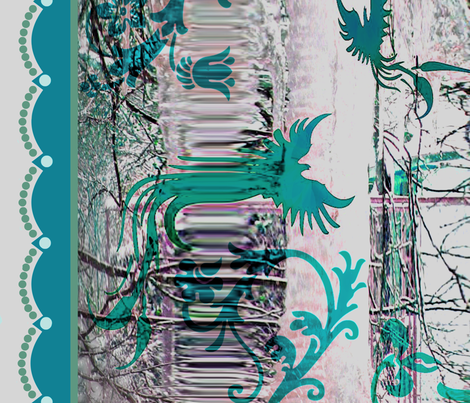 Turquoise Ice fabric by paragonstudios on Spoonflower - custom fabric