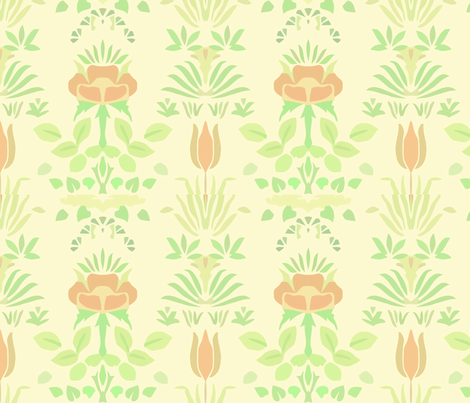Lotus fabric by myracle on Spoonflower - custom fabric