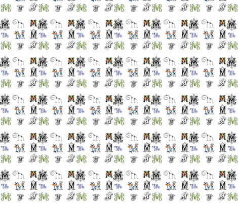 Letter M fabric by bfabric on Spoonflower - custom fabric
