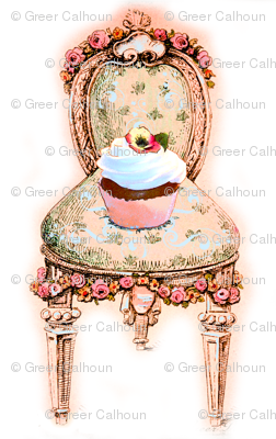 Victorian Cupcake Chair Pink