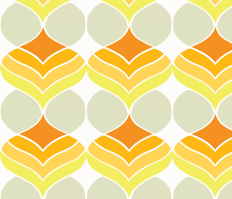 droplets orange fabric by myracle on Spoonflower - custom fabric