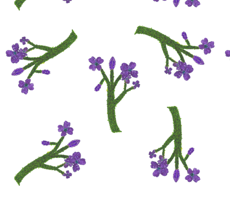 Flowers fabric by chickie on Spoonflower - custom fabric
