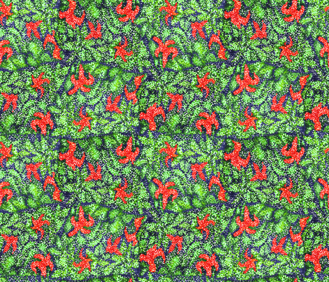 Flowering Bush fabric by lulakiti on Spoonflower - custom fabric