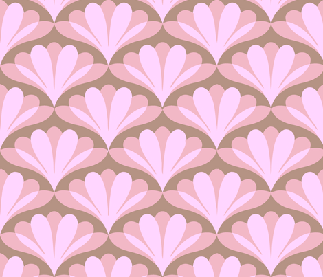 fan gras pink fabric by myracle on Spoonflower - custom fabric