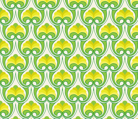 Bouquet green-ch fabric by myracle on Spoonflower - custom fabric