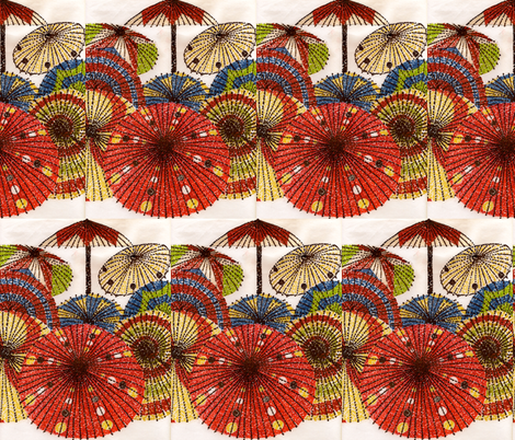 pretty parasols in pointillism fabric by krihem on Spoonflower - custom fabric