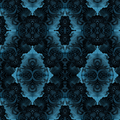 Black Lace Blues fabric by nalo_hopkinson on Spoonflower - custom fabric