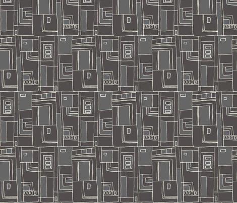 Boundaries _ Charcoal fabric by designcrafty on Spoonflower - custom fabric