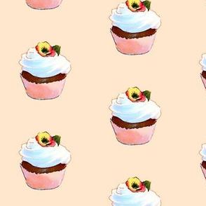 Cupcake on Apricot