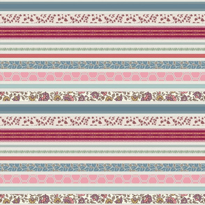 romantic ribbon stripe