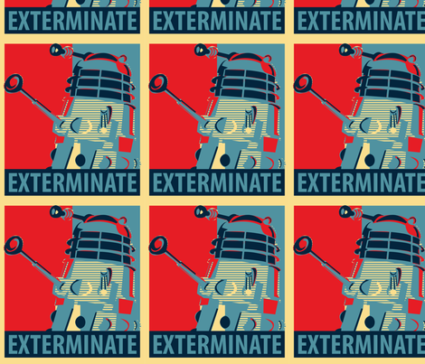 Exterminate! fabric by studiofibonacci on Spoonflower - custom fabric
