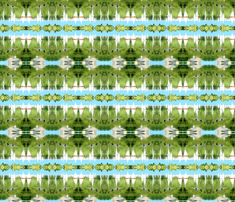 Central Park Boat Pond fabric by robin_rice on Spoonflower - custom fabric