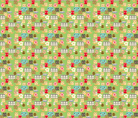 Breakfast fabric by heidikenney on Spoonflower - custom fabric