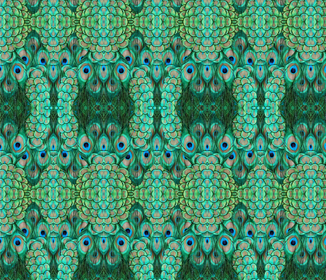 ©2011 peacock 2 fabric by glimmericks on Spoonflower - custom fabric