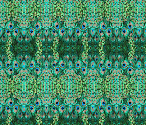 ©2011 peacock-4 fabric by glimmericks on Spoonflower - custom fabric