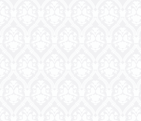 "HAPPY DAMASK in ""FOG"" MODERN fabric by trcreative on Spoonflower - custom fabric"