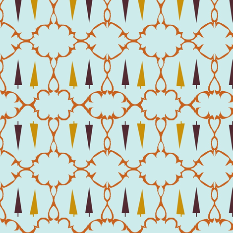 Interlaced Medallions and Pine  Trees fabric by boris_thumbkin on Spoonflower - custom fabric