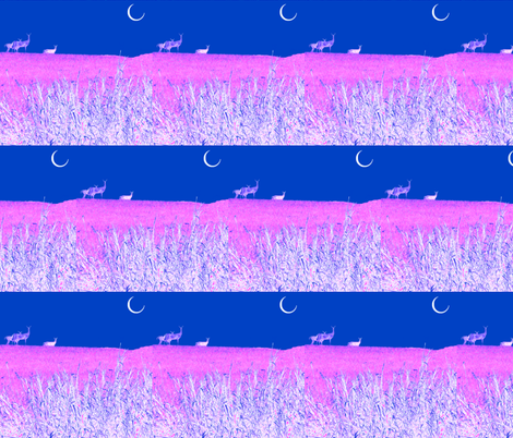 Moonlight Deer fabric by robin_rice on Spoonflower - custom fabric
