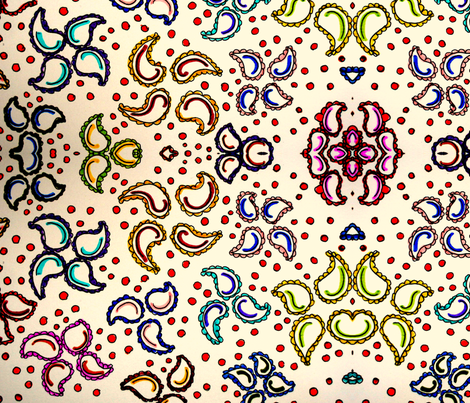 paisley-ed fabric by artbug64 on Spoonflower - custom fabric