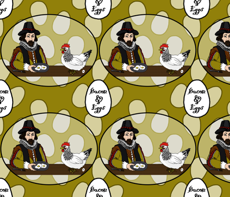 (Francis) Bacon and Eggs fabric by rayne on Spoonflower - custom fabric