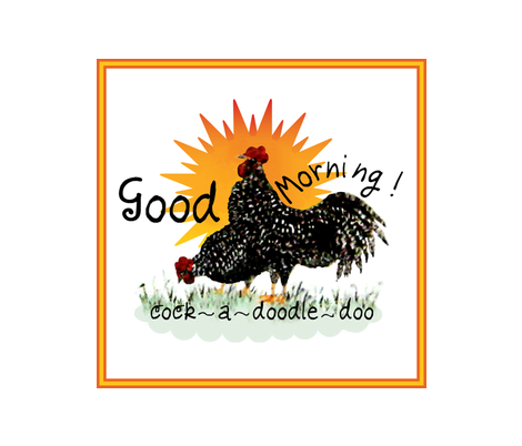 A Good Morning / roosters fabric by paragonstudios on Spoonflower - custom fabric