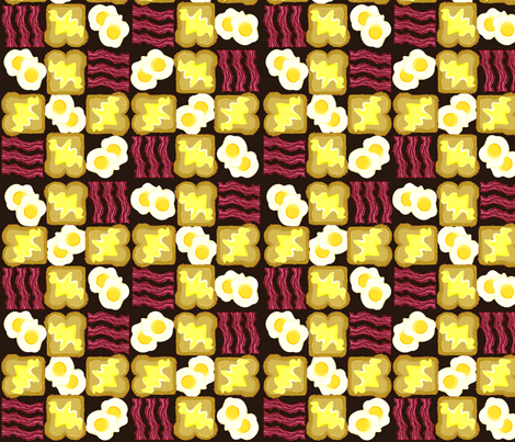 bacon fabric by ituhadesign on Spoonflower - custom fabric