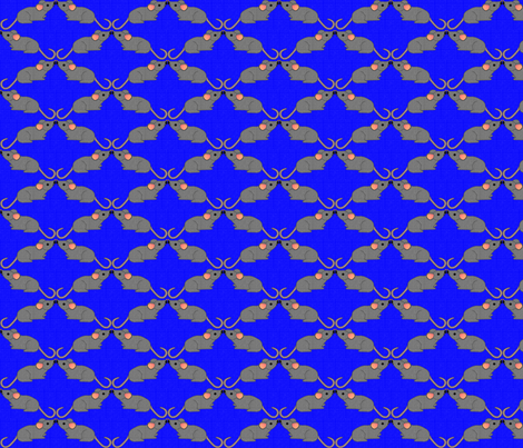 Mus Mustachius on Royal Blue fabric by glimmericks on Spoonflower - custom fabric